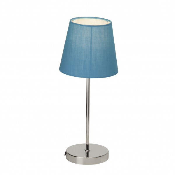 Brilliant 94874/03 Kasha Tischleuchte mit Touchschalter Metall/Textil LED Lampen