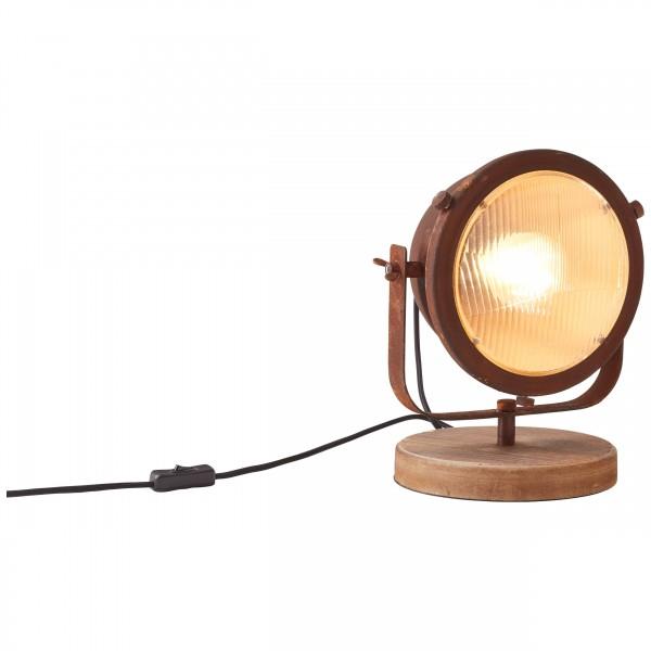Brilliant 94928/60 Carmen Tischleuchte Metall/Holz LED Lampen