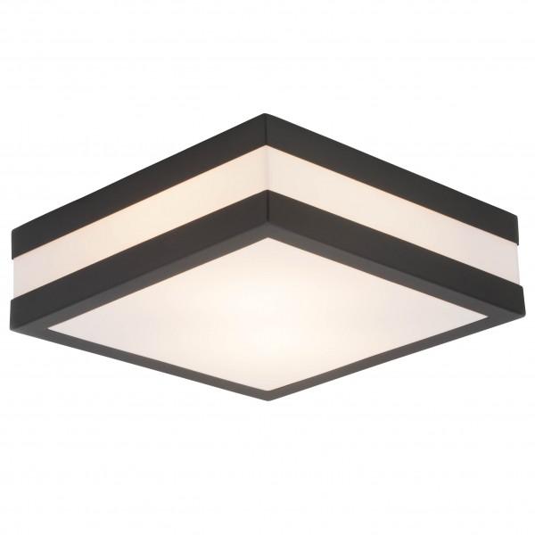 Brilliant 96233/63 Matteo Aussenwand- und Deckenleuchte 29x29cm Edelstahl/Kunststoff LED Lampen