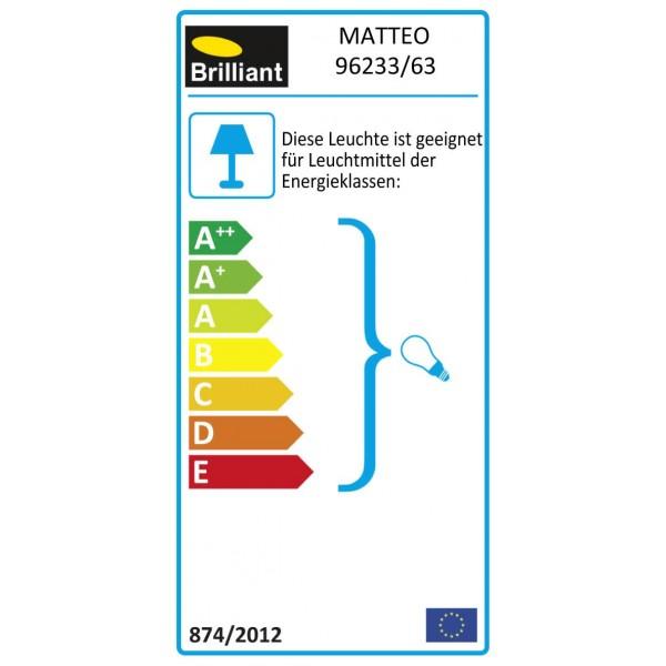 Brilliant 96233/63 Matteo Aussenwand- und Deckenleuchte 29x29cm Edelstahl/Kunststoff schoene lampenwelt