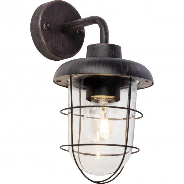 Brilliant 96288/55 Carlisle Aussenwandleuchte, haengend Metall/Glas LED Lampen
