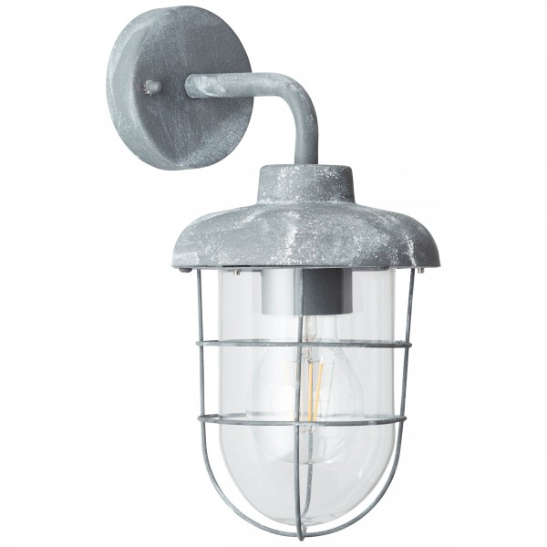 Brilliant 96288/70 Carlisle Aussenwandleuchte, haengend Metall/Glas schoene lampenwelt