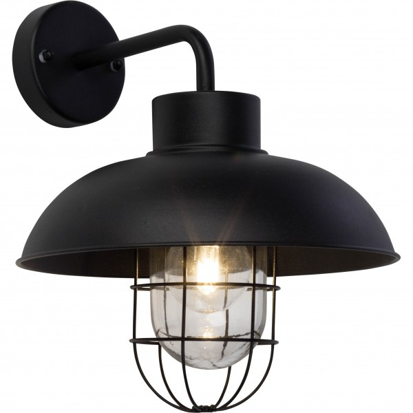 Brilliant 96297/06 Portland Aussenwandleuchte, haengend Metall/Glas LED Lampen