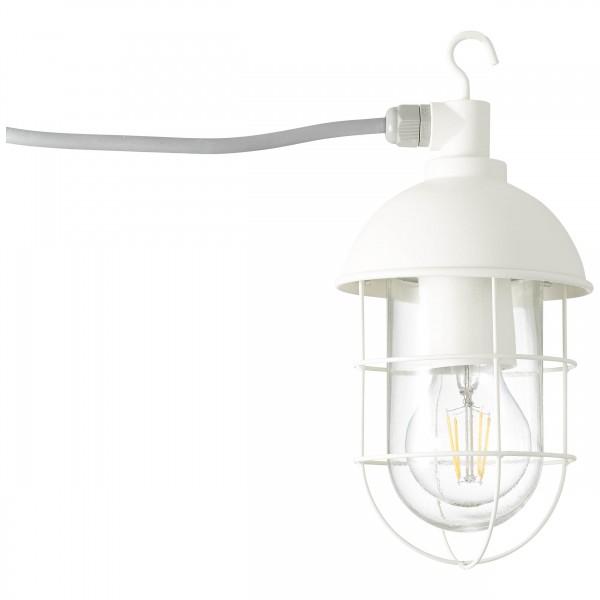 Brilliant 96350/05 Utsira Aussenpendelleuchte mit Zuleitung Metall/Glas schoene lampenwelt
