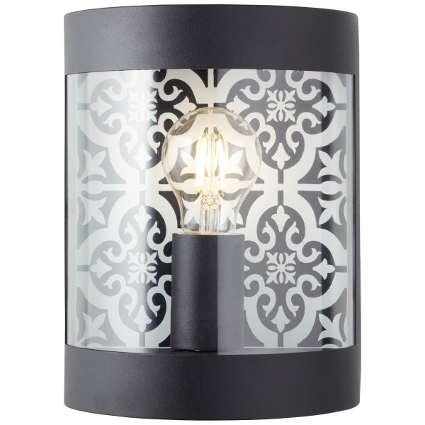 Brilliant 96354/06 Lison Aussenwandleuchte Metall/Kunststoff LED Lampen