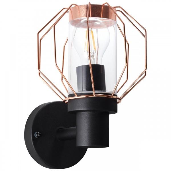 Brilliant 96359/76 Fannia Aussenwandleuchte Metall/Glas schoene lampenwelt