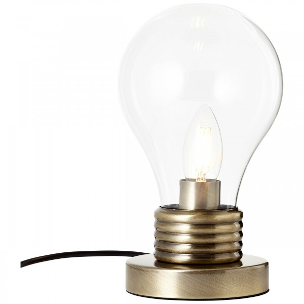 Brilliant 98976/31 Evergreen Tischleuchte 25cm Glas/Metall LED Lampen