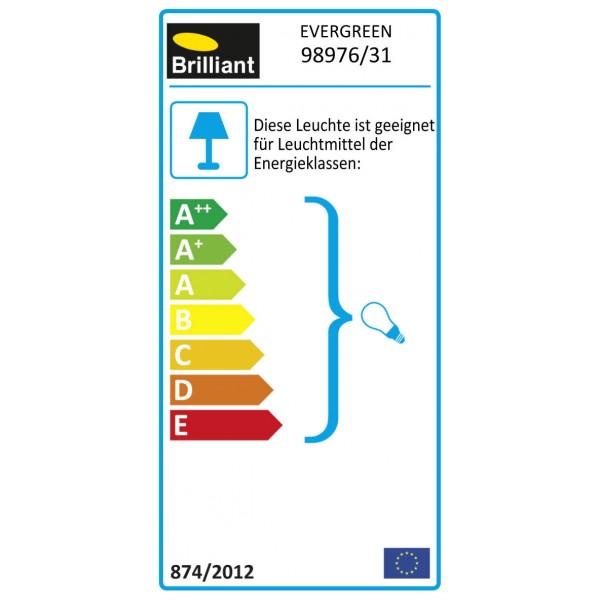 Brilliant 98976/31 Evergreen Tischleuchte 25cm Glas/Metall Beleuchtung