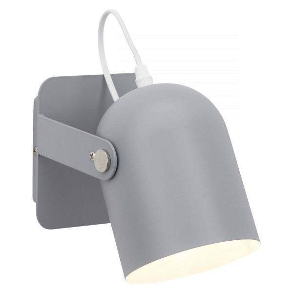 Brilliant 98982/22 Yan Wandspot mit Schalter Metall LED Lampen