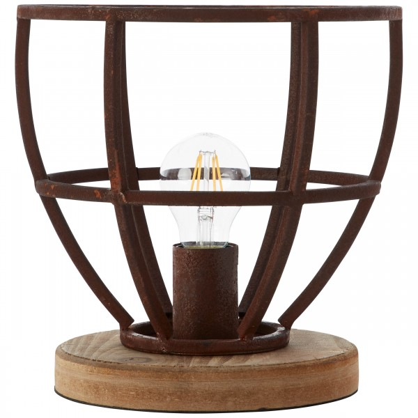 Brilliant 99007/55 Matrix Tischleuchte 25cm Metall/Holz schoene lampenwelt