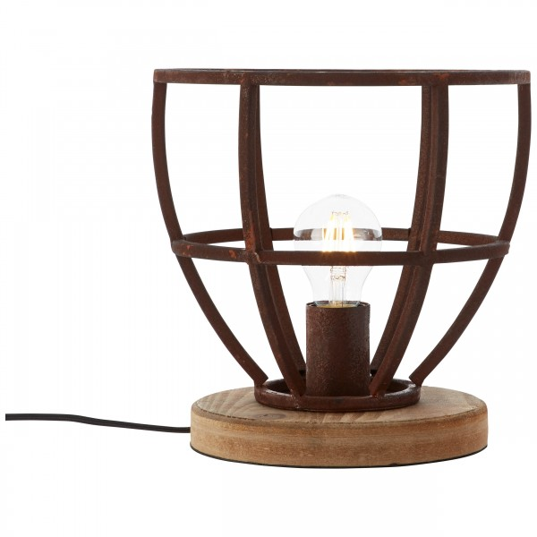 Brilliant 99007/55 Matrix Tischleuchte 25cm Metall/Holz Leuchten