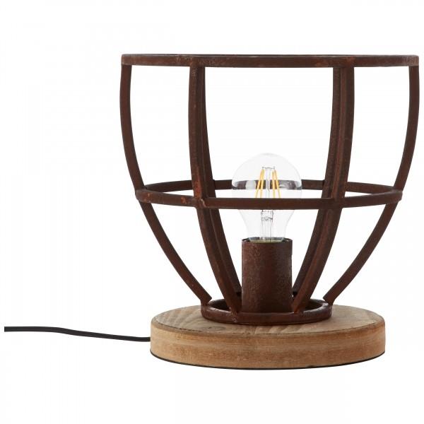 Brilliant 99007/55 Matrix Tischleuchte 25cm Metall/Holz Beleuchtung