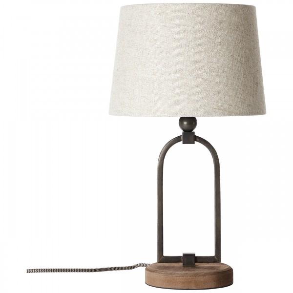 Brilliant 99019/09 Sora Tischleuchte 25cm Metall/Textil LED Lampen