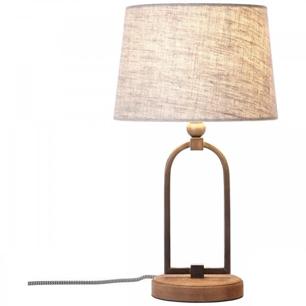 Brilliant 99019/09 Sora Tischleuchte 25cm Metall/Textil schoene lampenwelt
