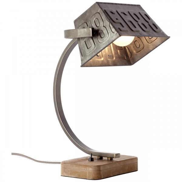 Brilliant 99022/46 Drake Tischleuchte Metall/Holz LED Lampen