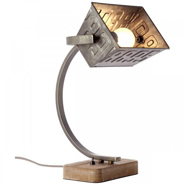Brilliant 99022/46 Drake Tischleuchte Metall/Holz schoene lampenwelt