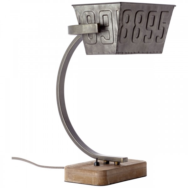 Brilliant 99022/46 Drake Tischleuchte Metall/Holz Leuchten