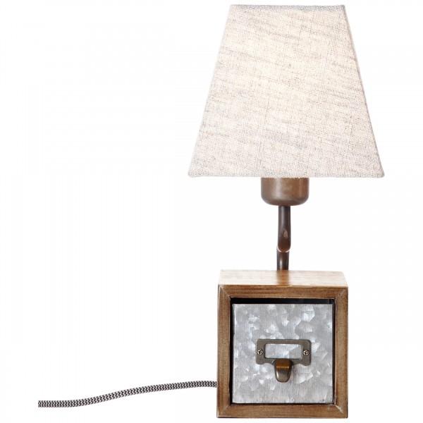 Brilliant 99023/43 Casket Tischleuchte Metall/Holz/Textil LED Lampen