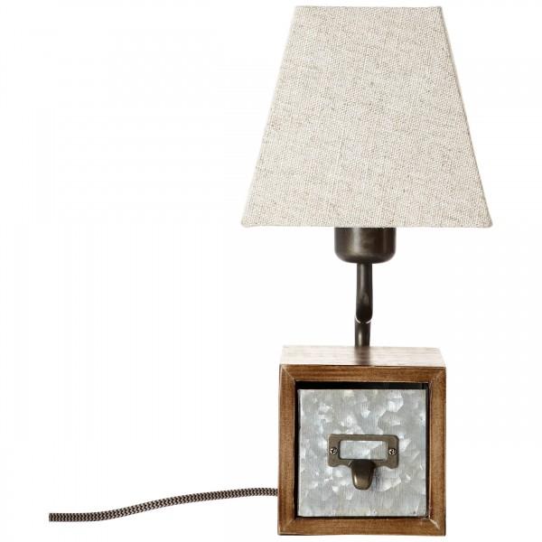 Brilliant 99023/43 Casket Tischleuchte Metall/Holz/Textil schoene lampenwelt