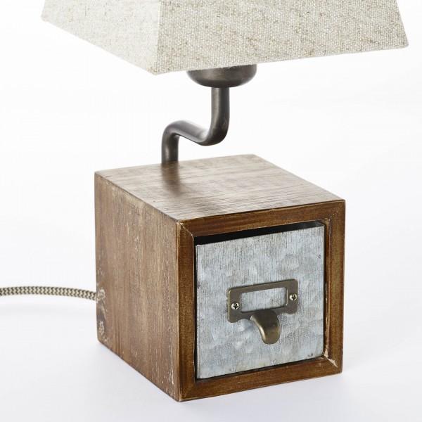 Brilliant 99023/43 Casket Tischleuchte Metall/Holz/Textil Leuchten