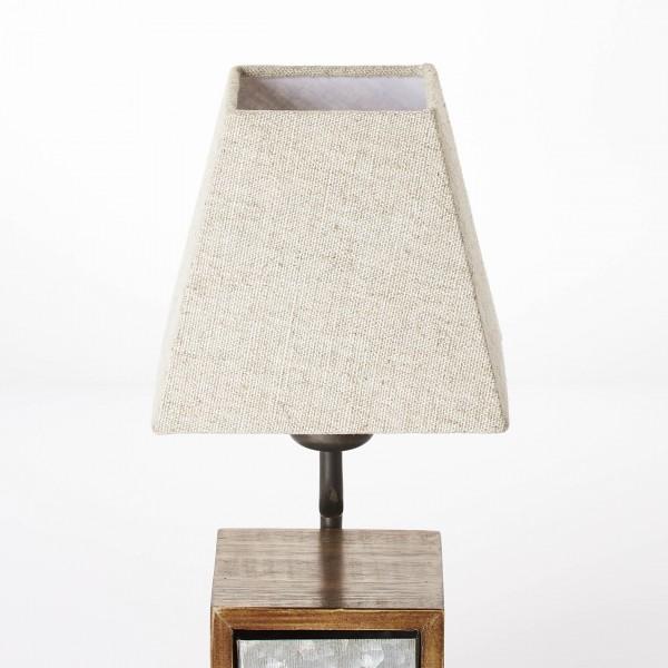 Brilliant 99023/43 Casket Tischleuchte Metall/Holz/Textil Beleuchtung