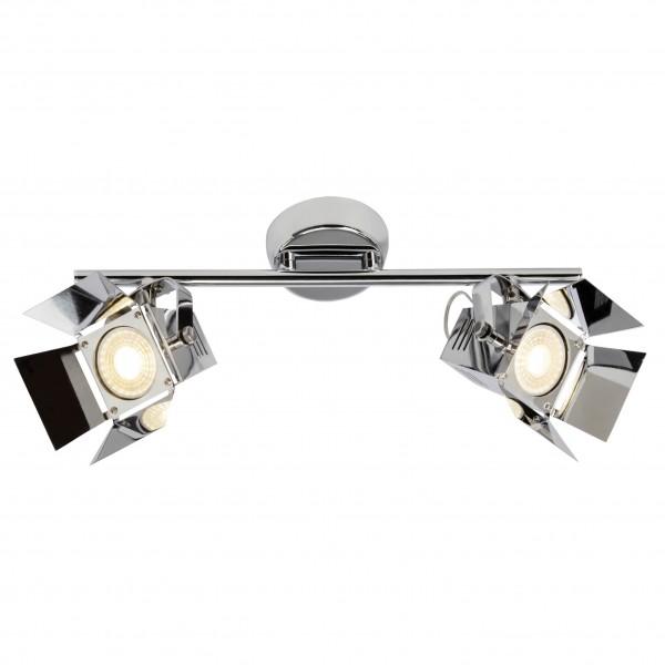 Brilliant G08913/15 Movie Spotrohr, 2-flammig Metall chrom LED Lampen