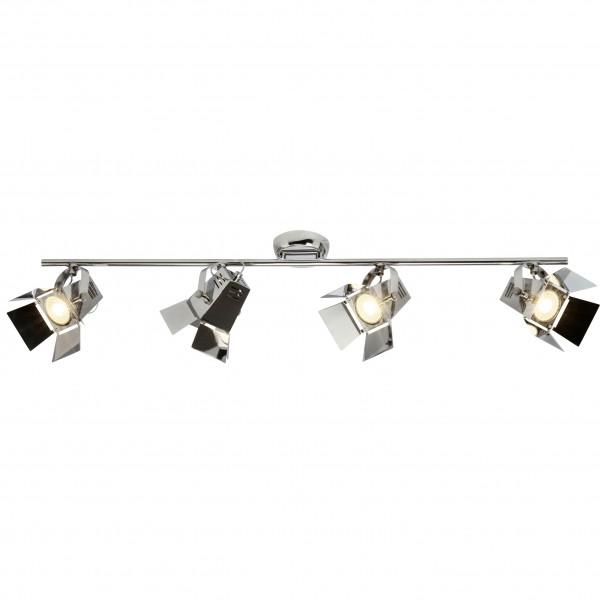 Brilliant G08931/15 Movie Spotrohr, 4-flammig Metall chrom LED Lampen