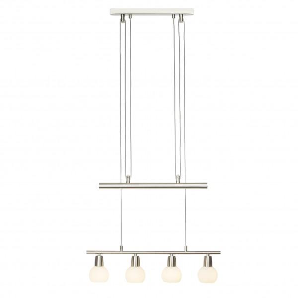 Brilliant G16372/13 Philo Pendelleuchte, 4-flammig Metall/Glas LED Lampen
