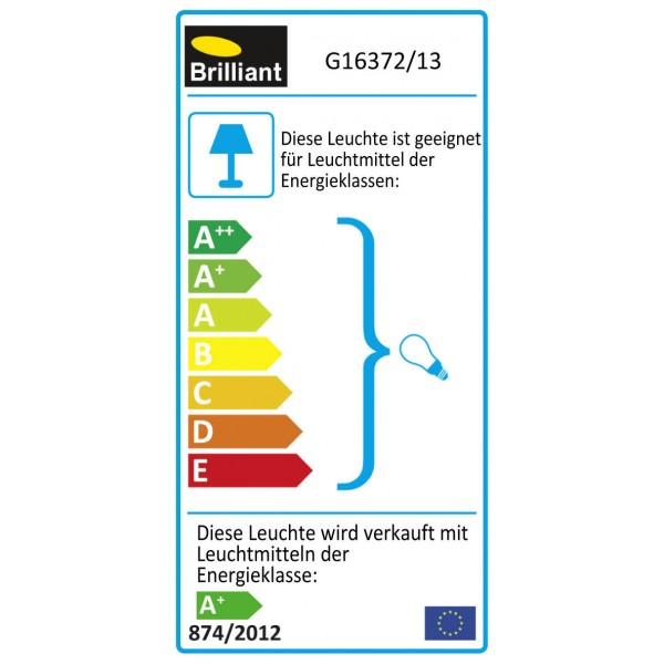 Brilliant G16372/13 Philo Pendelleuchte, 4-flammig Metall/Glas Leuchten