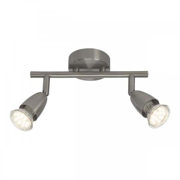 Brilliant G21513/13 Amalfi Spotrohr, 2-flammig Metall LED Lampen