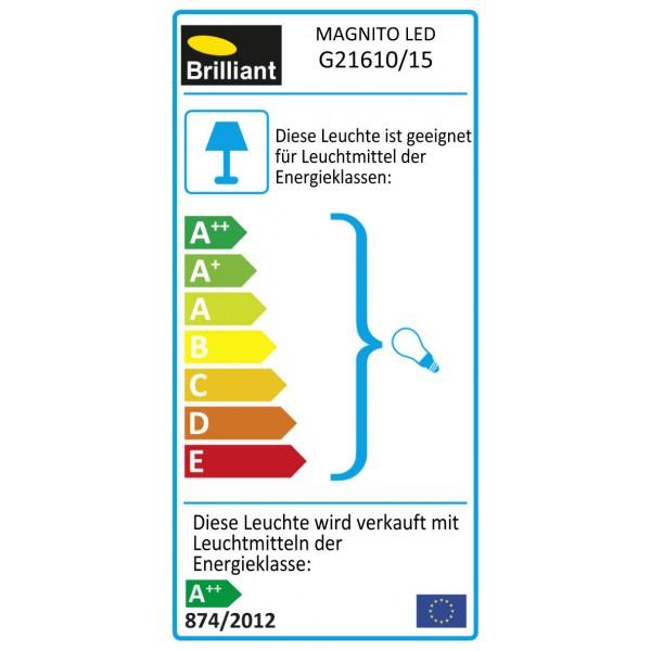 Brilliant G21610/15 Magnito Wandspot Metall schoene lampenwelt