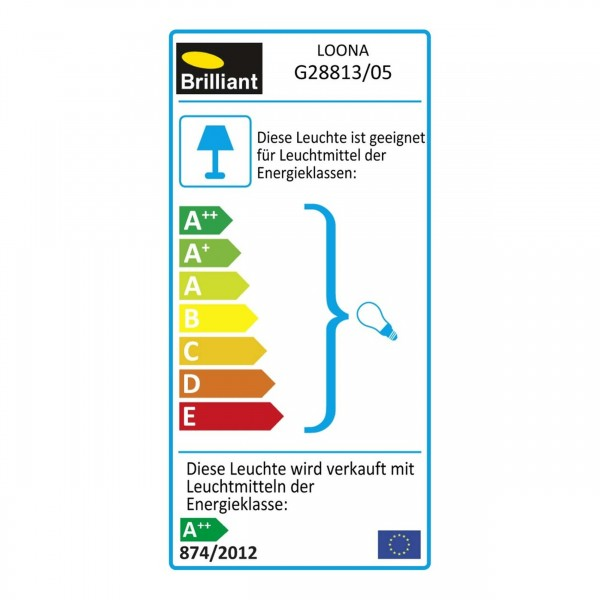 Brilliant G28813/05 Loona Spotrohr, 2-flammig Metall schoene lampenwelt