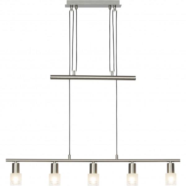 Brilliant G32473/77 Lea Pendelleuchte, 5-flammig Metall/Glas LED Lampen