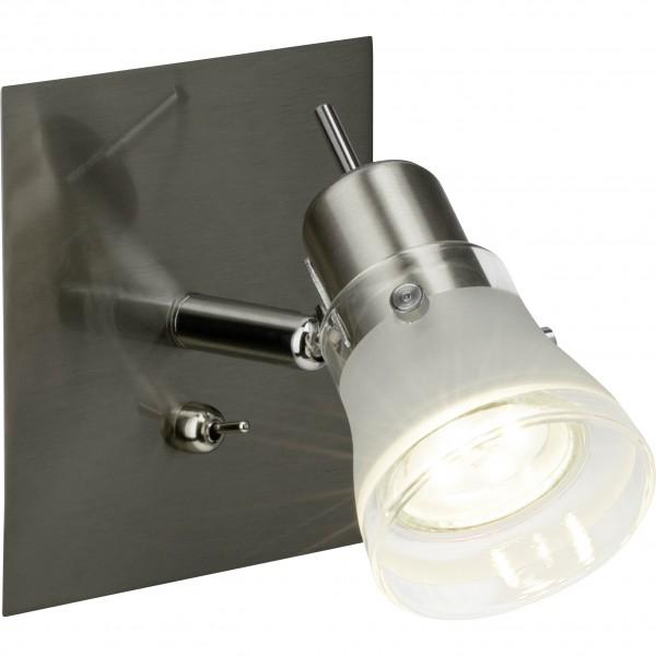 Brilliant G38811/13 Lipari Wandspot mit Schalter Metall/Glas LED Lampen