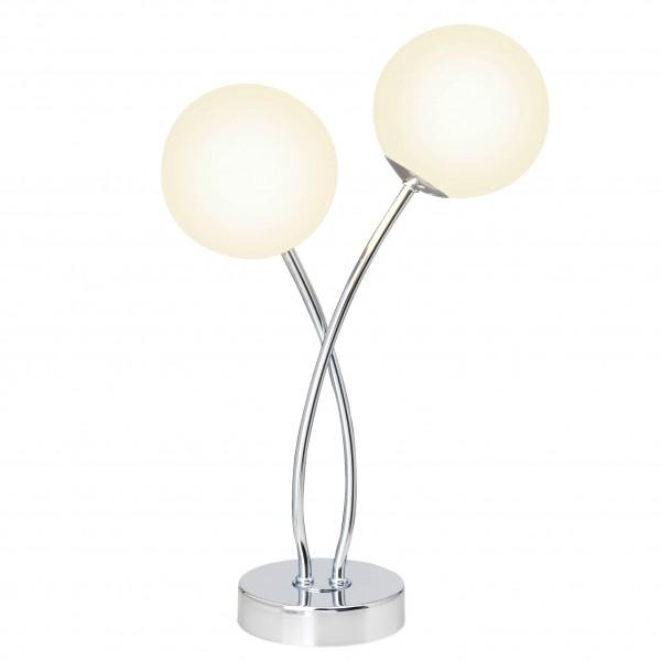 Brilliant G39642/75 Mirella Tischleuchte, 2-flammig Metall/Glas schoene lampenwelt