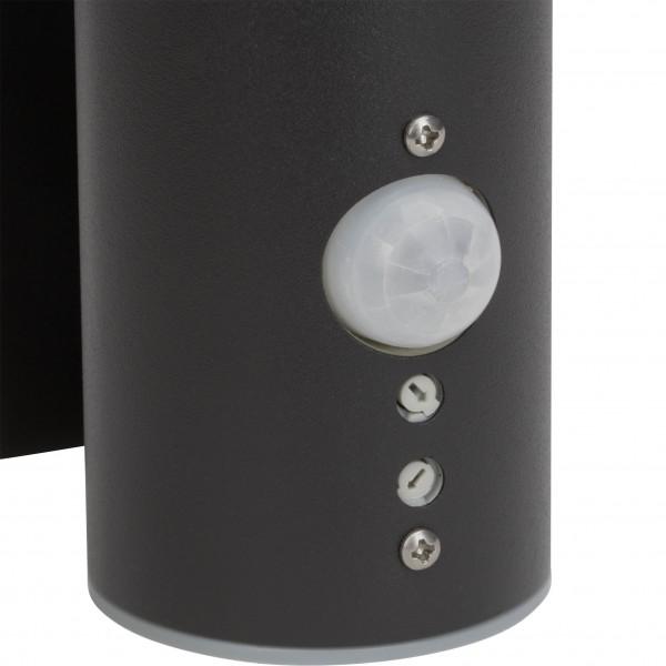 Brilliant G40097/63 Bergen Aussenwandleuchte mit Bewegungsmelder Metall/Kunststoff schoene lampenwelt