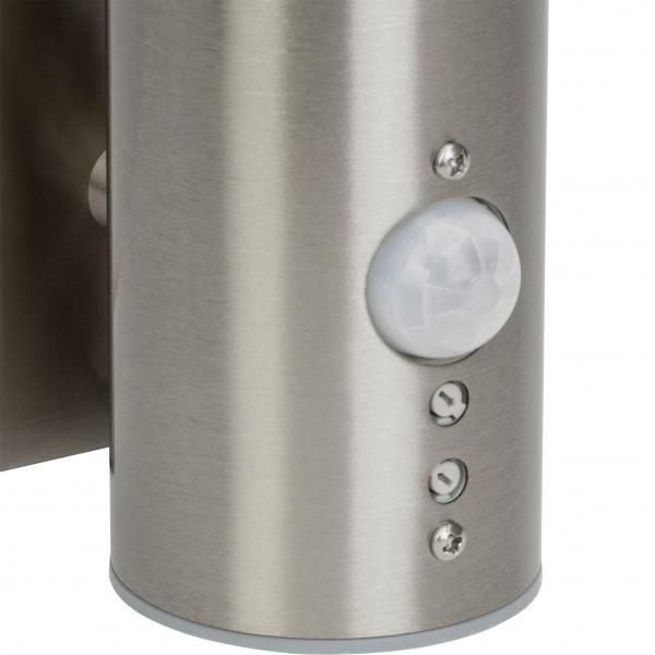 Brilliant G40097/82 Bergen Aussenwandleuchte mit Bewegungsmelder Metall/Kunststoff schoene lampenwelt