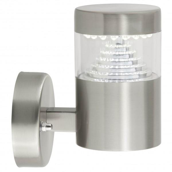 Brilliant G43481/82 Avon Aussenwandleuchte, stehend Edelstahl/Kunststoff LED Lampen