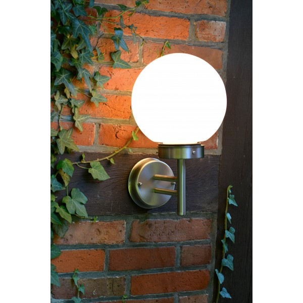Brilliant G44081/82 Aalborg Aussenwandleuchte Edelstahl/Glas schoene lampenwelt