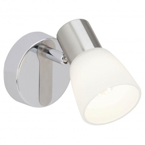 Brilliant G46110/77 Janna Wandspot Metall/Glas LED Lampen