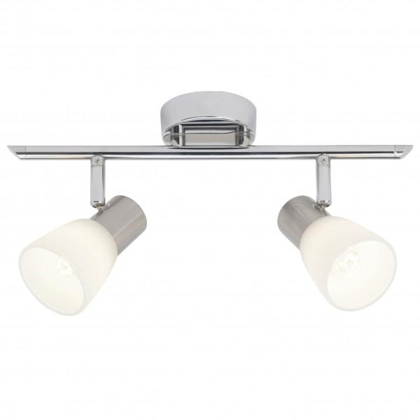 Brilliant G46113/77 Janna Spotrohr, 2-flammig Metall/Glas LED Lampen