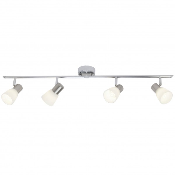 Brilliant G46132/77 Janna Spotrohr, 4-flammig, drehbar Metall/Glas LED Lampen
