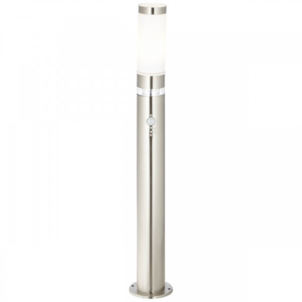 Brilliant G46799/82 Bole Aussenstandleuchte mit Bewegungsmelder Metall/Kunststoff LED Lampen