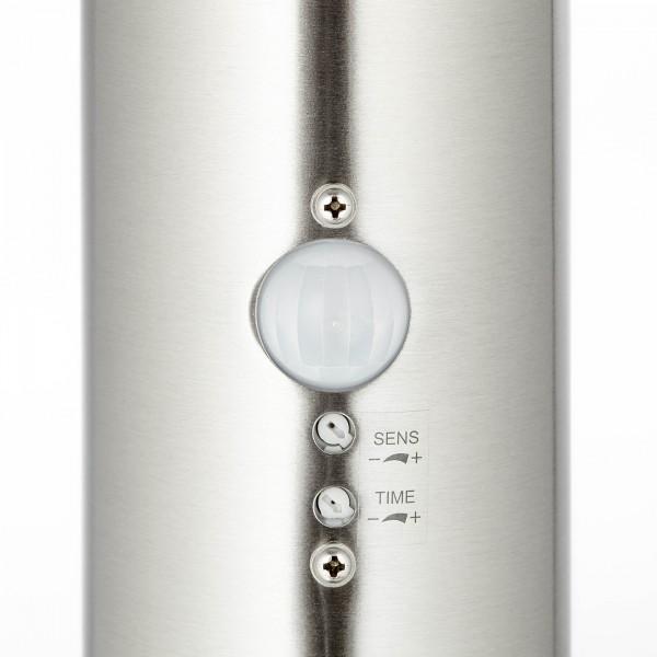 Brilliant G46799/82 Bole Aussenstandleuchte mit Bewegungsmelder Metall/Kunststoff Beleuchtung