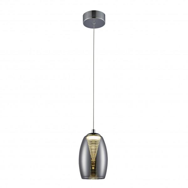 Brilliant G60770/93 Metropolis Pendelleuchte, 1-flammig Glas/Metall LED Lampen