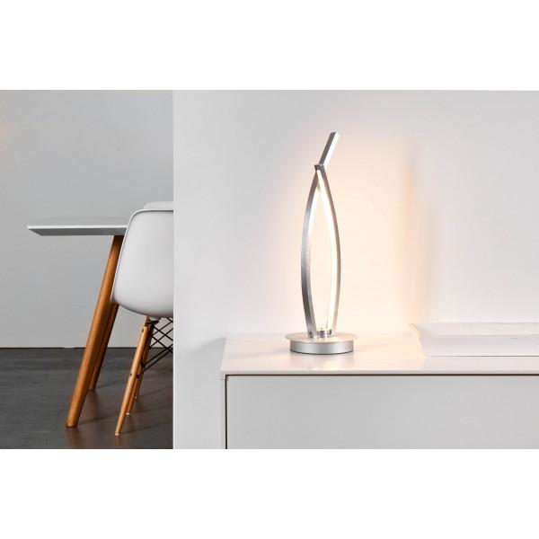 Brilliant G65142/21 Art Work Tischleuchte, 2-flammig Aluminium/Kunststoff Leuchten