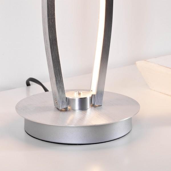 Brilliant G65142/21 Art Work Tischleuchte, 2-flammig Aluminium/Kunststoff Beleuchtung