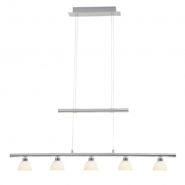 Brilliant G70573/15 Tonja Pendelleuchte, 5-flammig Metall/Glas LED Lampen