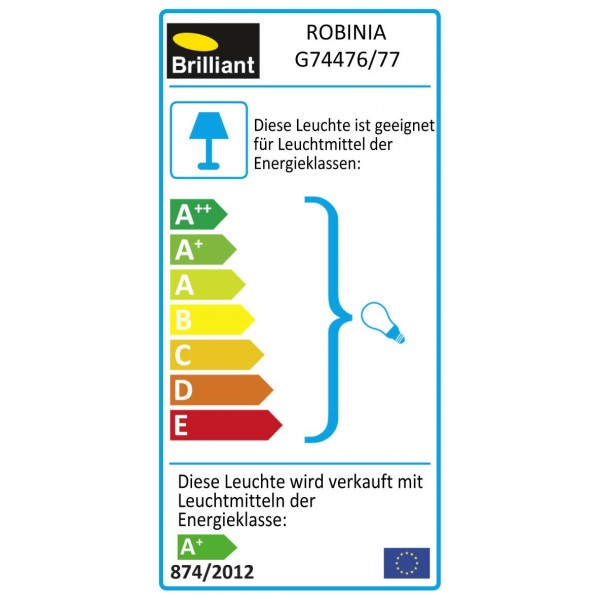 Brilliant G74476/77 Robinia Pendelleuchte, 3-flammig Metall/Glas Leuchten