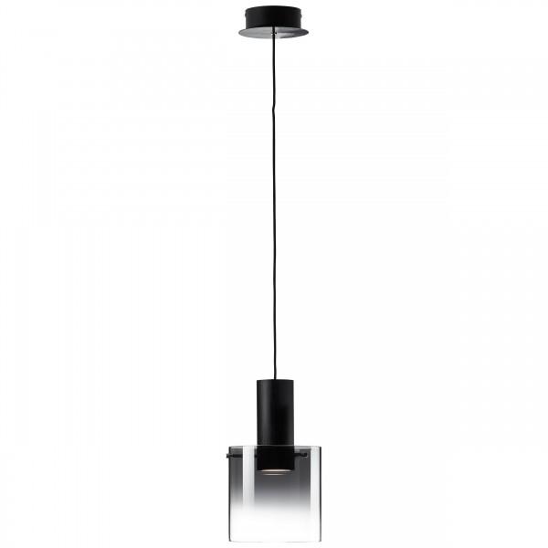 Brilliant G75570/93 Beth Pendelleuchte, 1-flammig Metall/Glas LED Lampen